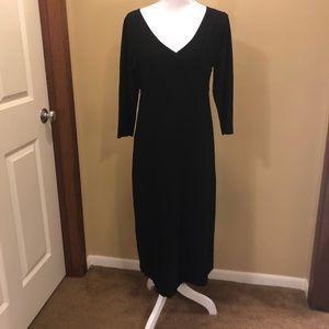 Black Eileen Fisher 3/4 sleeve dress